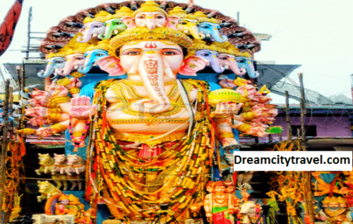 the world's largest Ganesha idol set up at Khairatabad