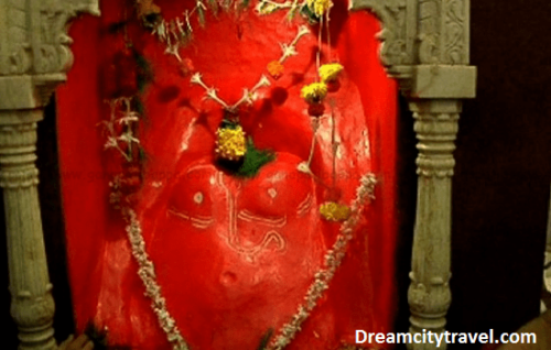 The temple of Ganpatipule in Maharashtra