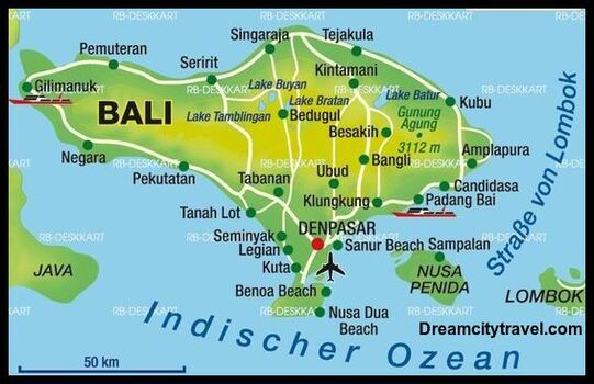 Bali Geographical Map Location