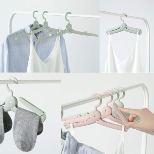 Folding Hangers with Travel Carry Case