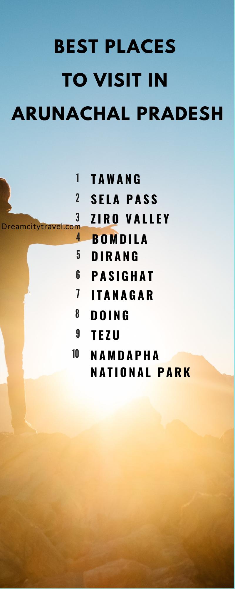 Best Places to Visit in Arunachal Pradesh - infographic