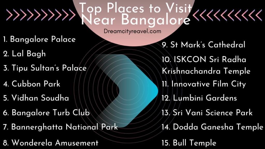 Top places to visit near Bangalore
